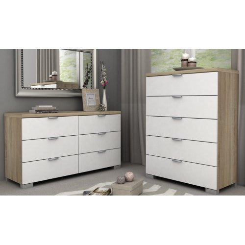 Tallboy & Lowboy - Gloss White/Oak