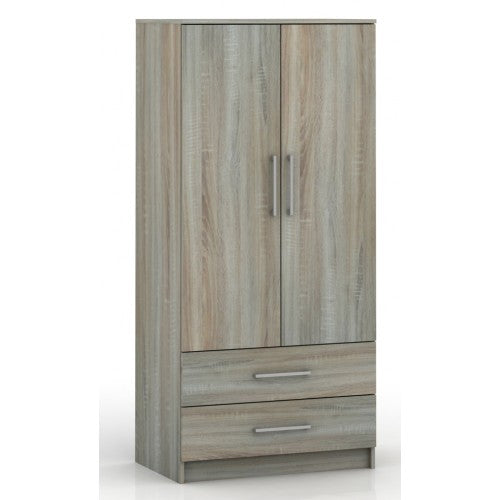 2 Door Wardrobe with Drawers – Oak