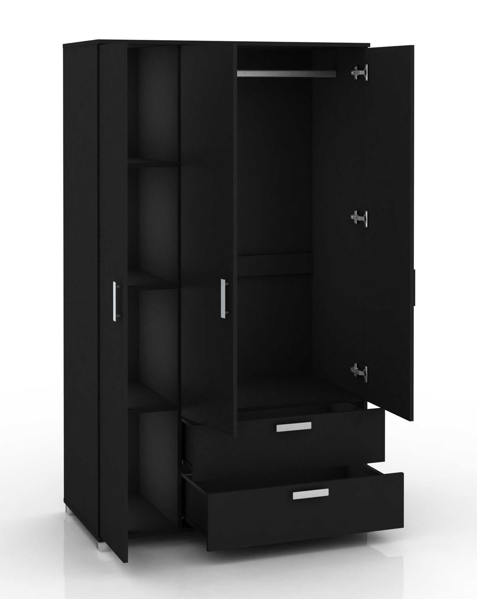 Polo 3 Door & 2 Drawer Wardrobe - Free Standing