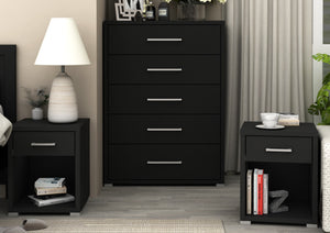 Bedroom Suite – 3 Piece – Tallboy – Bedside tables - Polo