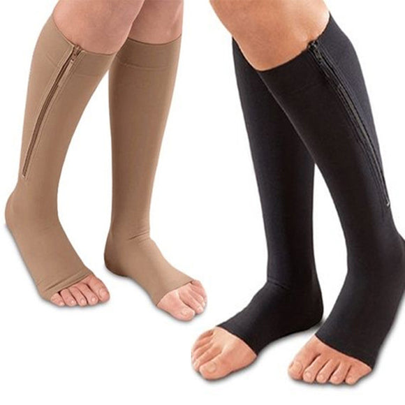 Open Toe Compression Socks (Unisex)