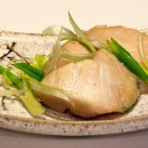 Soy Sauce-Poached Halibut Cheeks