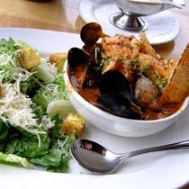 Roasted Halibut with Shellfish Cioppino