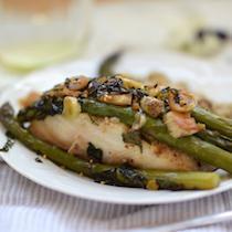Cod en Papillote with Asparagus, Ginger, and Sesame