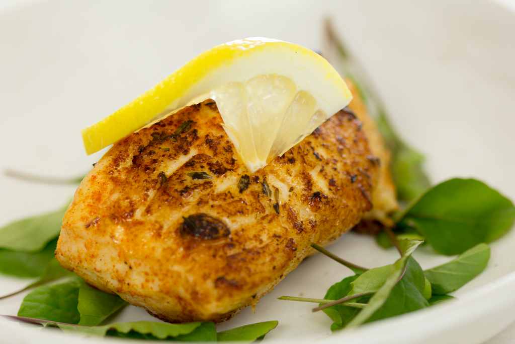 Fresh Halibut with Herb Marinade