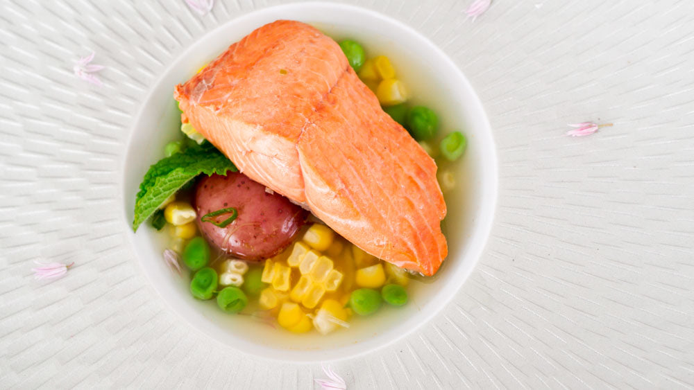 Poached Copper River Salmon