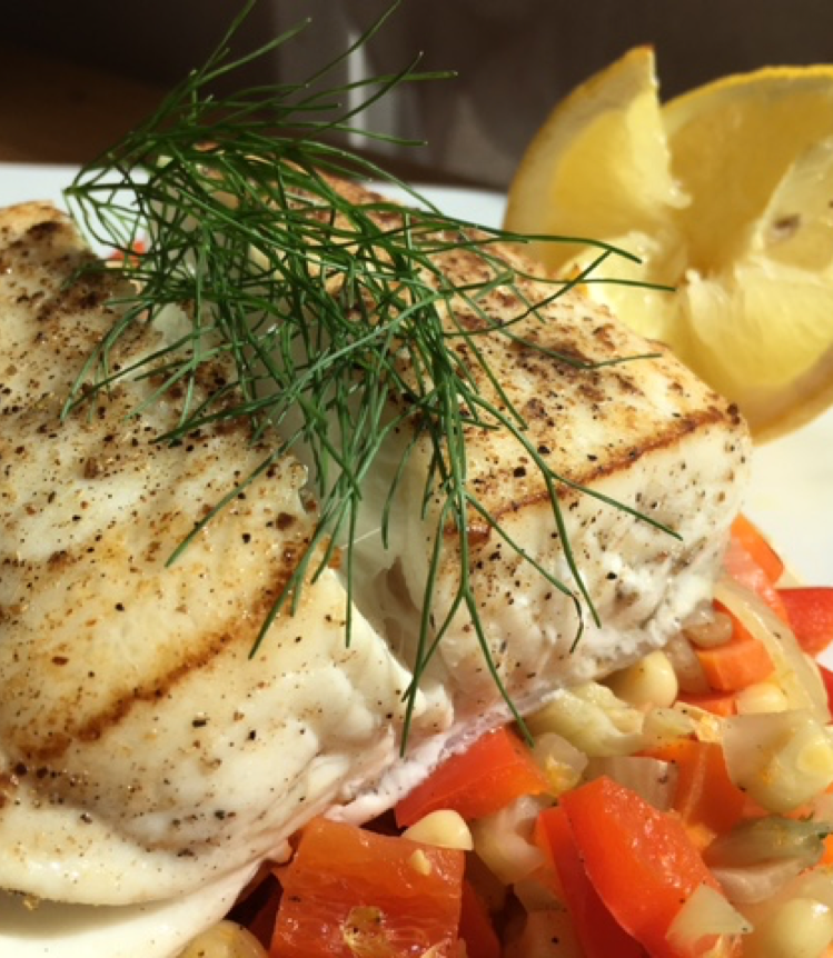 Seared Halibut With Summer Succotash