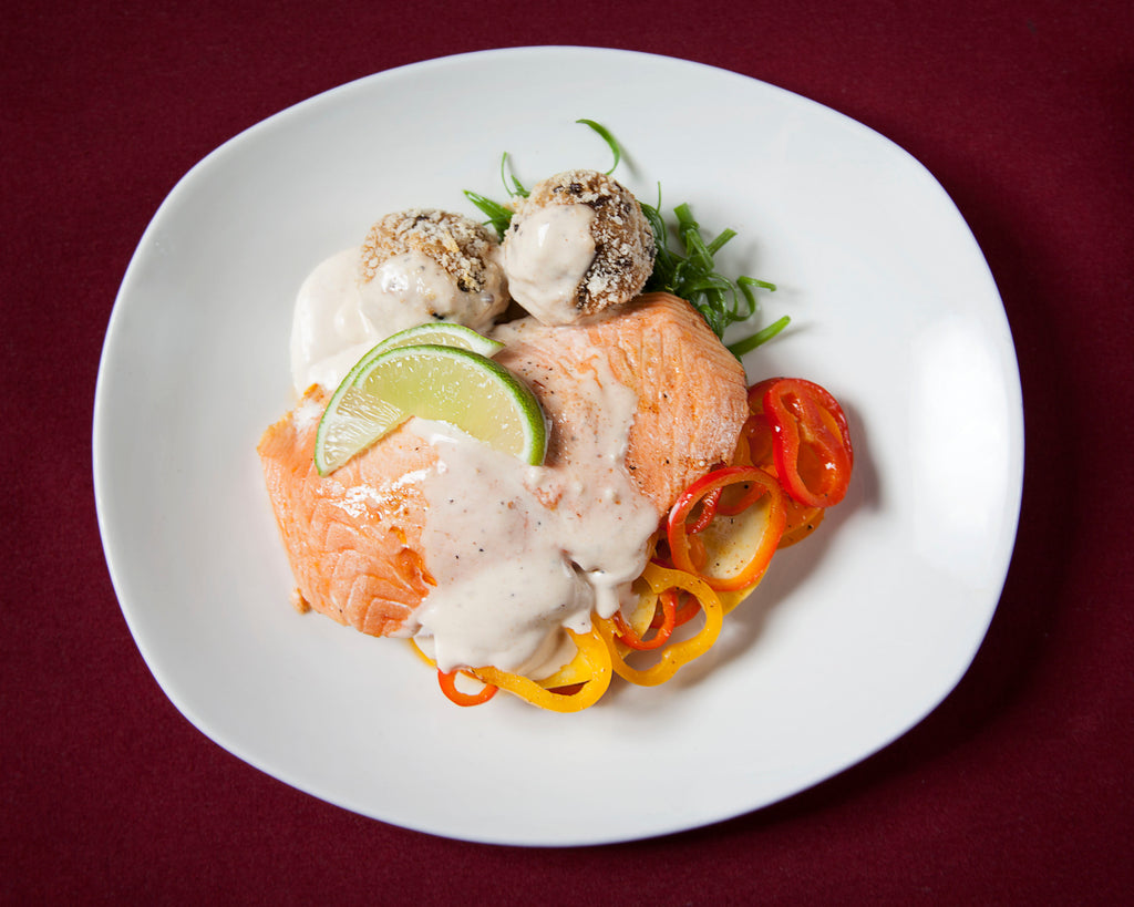 Guajillo Wild Salmon with Chipotle Cream