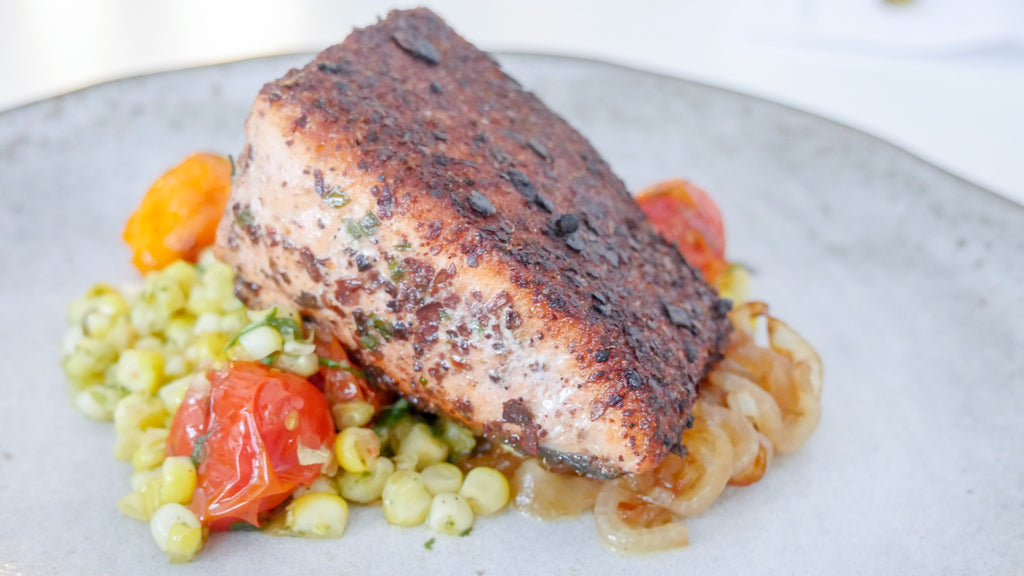 Salmon with Indi Chocolate Rub