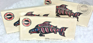 1 lb Alderwood Wild Sockeye Smoked Salmon in Fancy gift box (Large Wood)