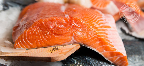 Fresh Northwest King Salmon Fillets