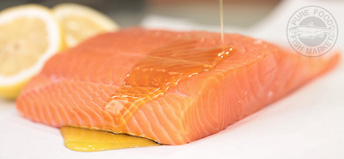 Fresh Alaskan King Salmon Fillets CENTER CUT