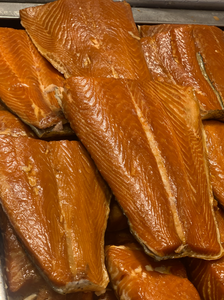 Fresh Alderwood Smoked Salmon TAILS ONLY.