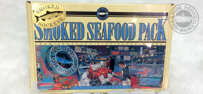 1/2 lb Alderwood Wild Sockeye Smoked Salmon in fancy gift box (Small Cardboard)