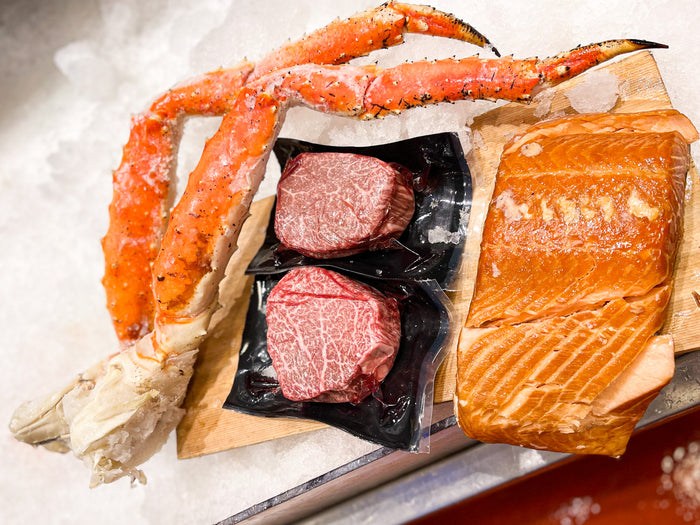 LIMITED TIME! Japanese Wagyu Jumbo King Crab Surf and Turf Dinner Pack!- ONLINE ONLY