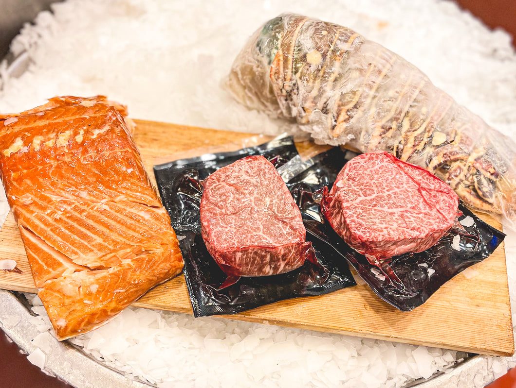 LIMITED TIME! Japanese Wagyu Jumbo Lobster Surf And Turf DINNER PACK!- ONLINE ONLY