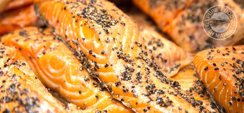 Fresh Garlic-Pepper Smoked Salmon