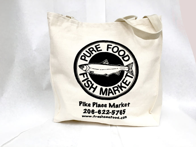 Pure Food Fish Market Canvas Tote