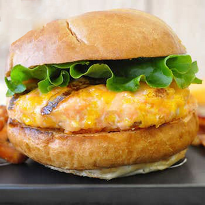 Bacon Cheddar Sockeye Salmon Burger Patties