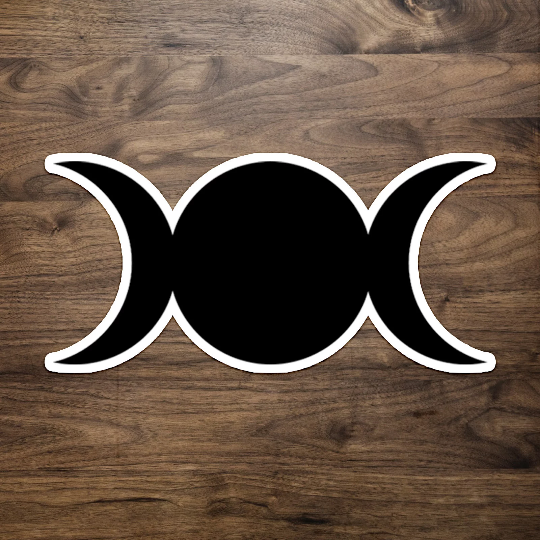 Triple Moon Symbol Sticker