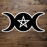 Triple Goddess Moon Phase Sticker