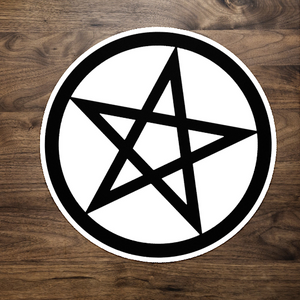 Black Pentacle Pentagram Sticker