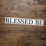 Blessed Be Witch Stickers