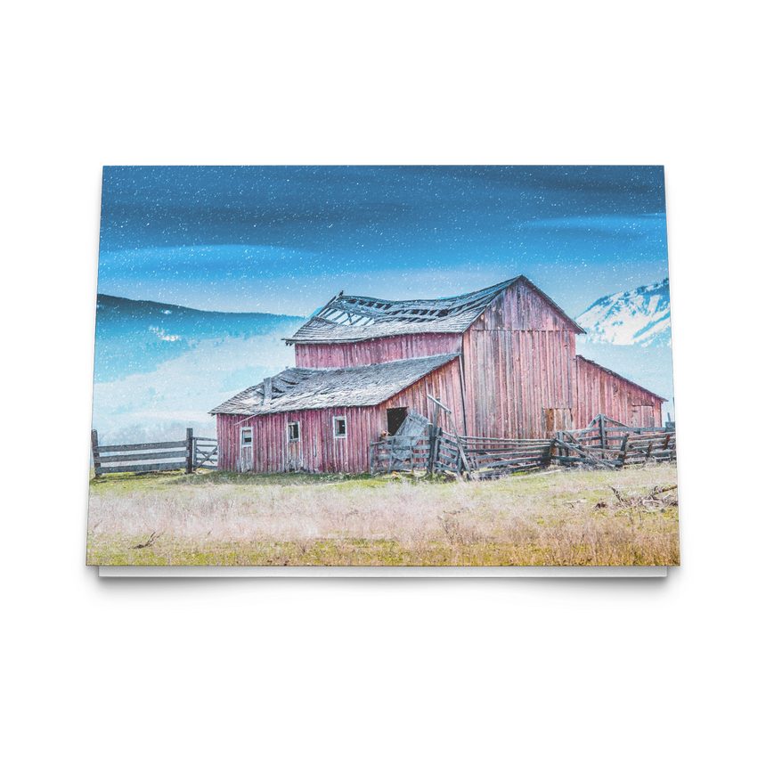 Folded Note Cards - Montana Series [Mountain Barn]