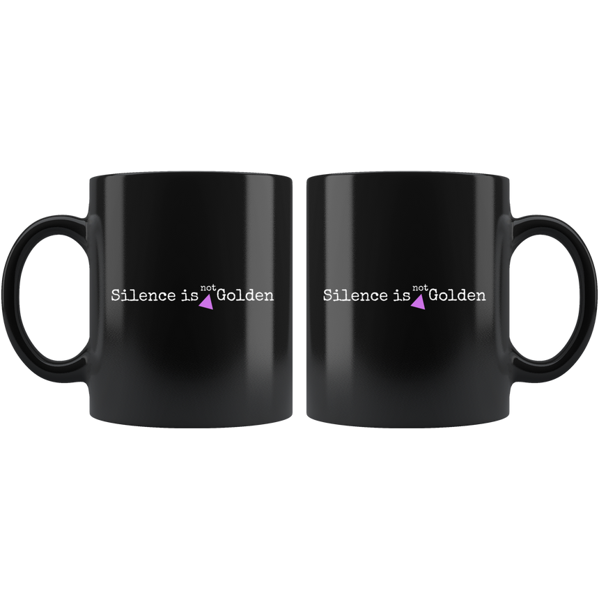 Black Mug - 11 oz. [Silence is not golden]