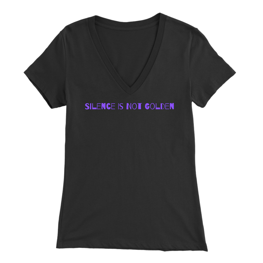 Women's Bella V-Neck [Silence Is Not Golden - 02]