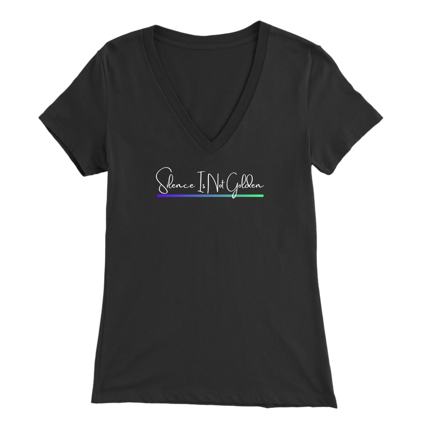 Women's Bella V-Neck [Silence Is Not Golden - 01]