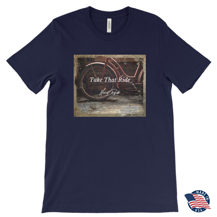 Men's Canvas T-shirt [Take That Ride]