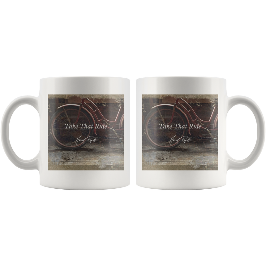 White Mug - 11 oz and 15 oz [Take That Ride]
