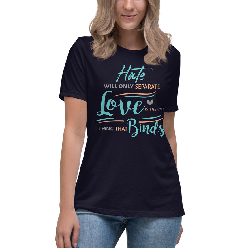 Women's Relaxed T-Shirt - Lyric Art Graphic LB-H