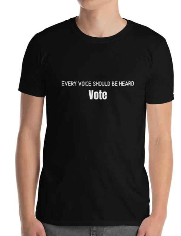 Short-Sleeve Men's t-shirt [Every voice should be heard - Vote]