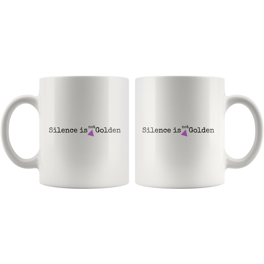White mug - 11 oz and 15 oz [Silence is not golden]