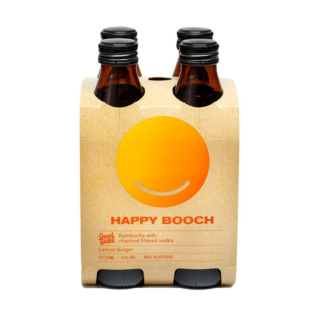Happy Booch Lemon Ginger - Premium Liquor New Zealand
