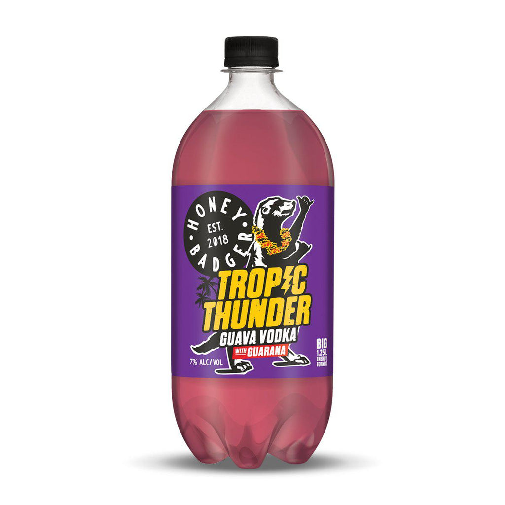Honey Badger Tropic Thunder Guava Vodka with Guarana - Premium Liquor New Zealand