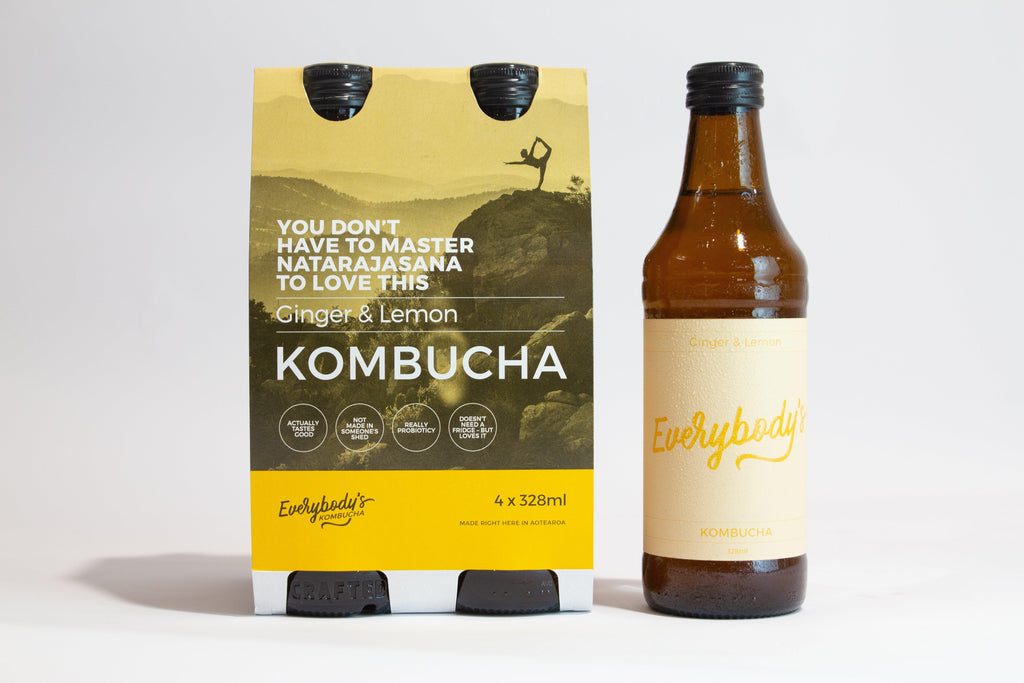 Everybodys Kombucha - Ginger & Lemon - Premium Liquor New Zealand