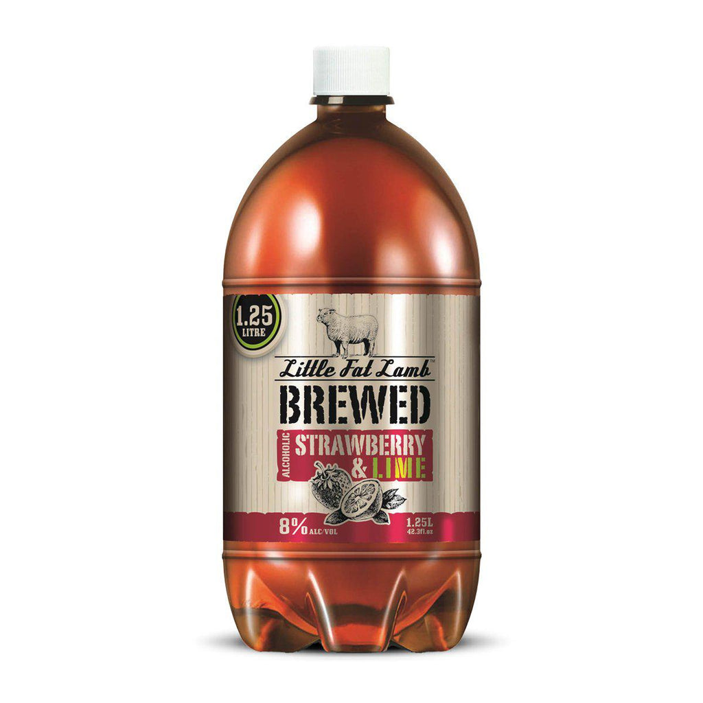Little Fat Lamb Brewed Strawberry & Lime - Premium Liquor New Zealand