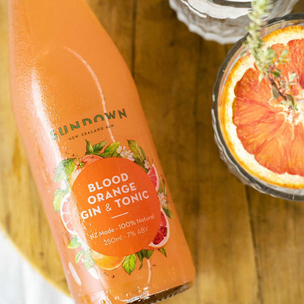Sundown Blood Orange Gin & Tonic - Premium Liquor New Zealand