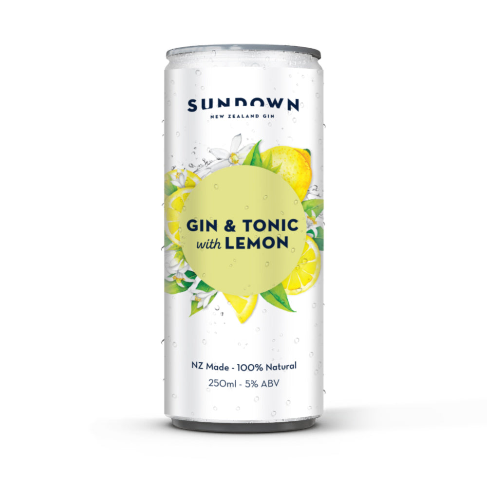 Sundown Gin & Tonic With Lemon - Cans