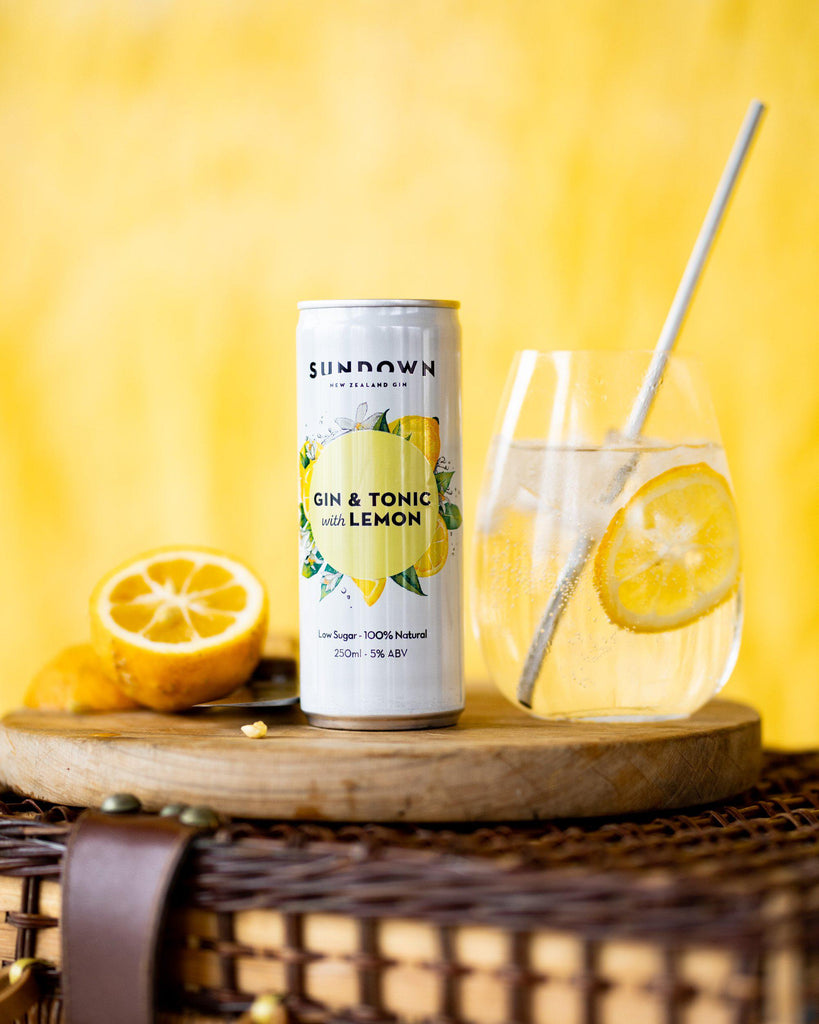 Sundown Gin & Tonic with Lemon - Premium Liquor New Zealand