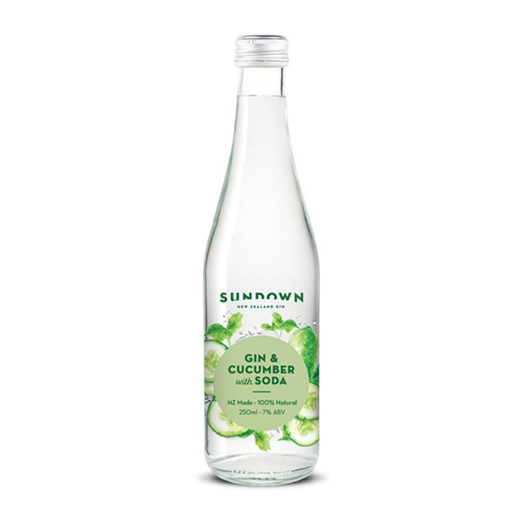 Sundown Gin & Cucumber with Soda - Premium Liquor New Zealand