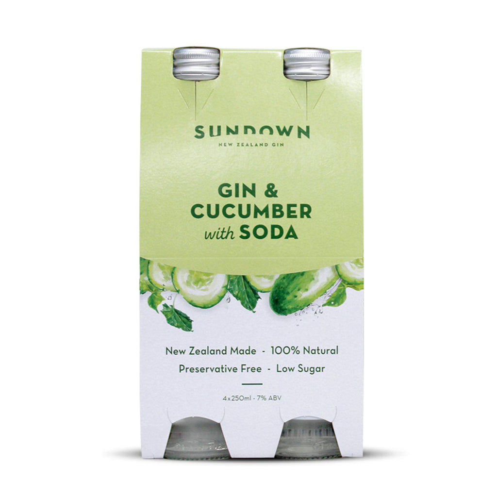 Sundown Gin & Cucumber with Soda