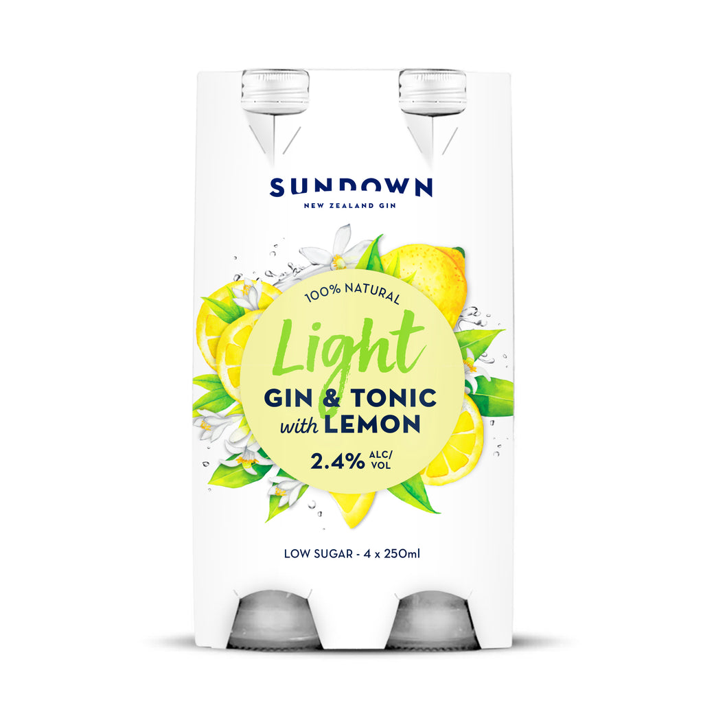 Sundown Light 2.4% G&T with Lemon