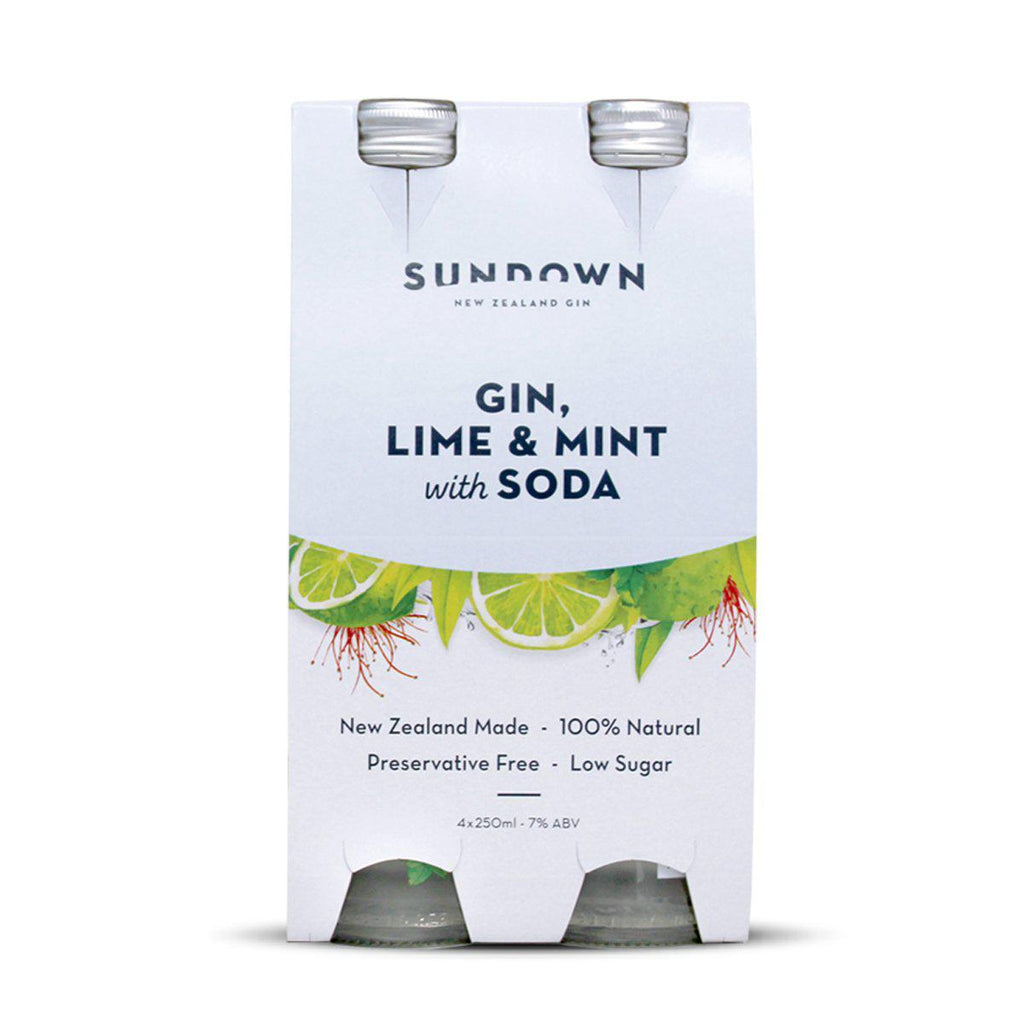 Sundown Gin + Lime & Mint with Soda - Premium Liquor New Zealand