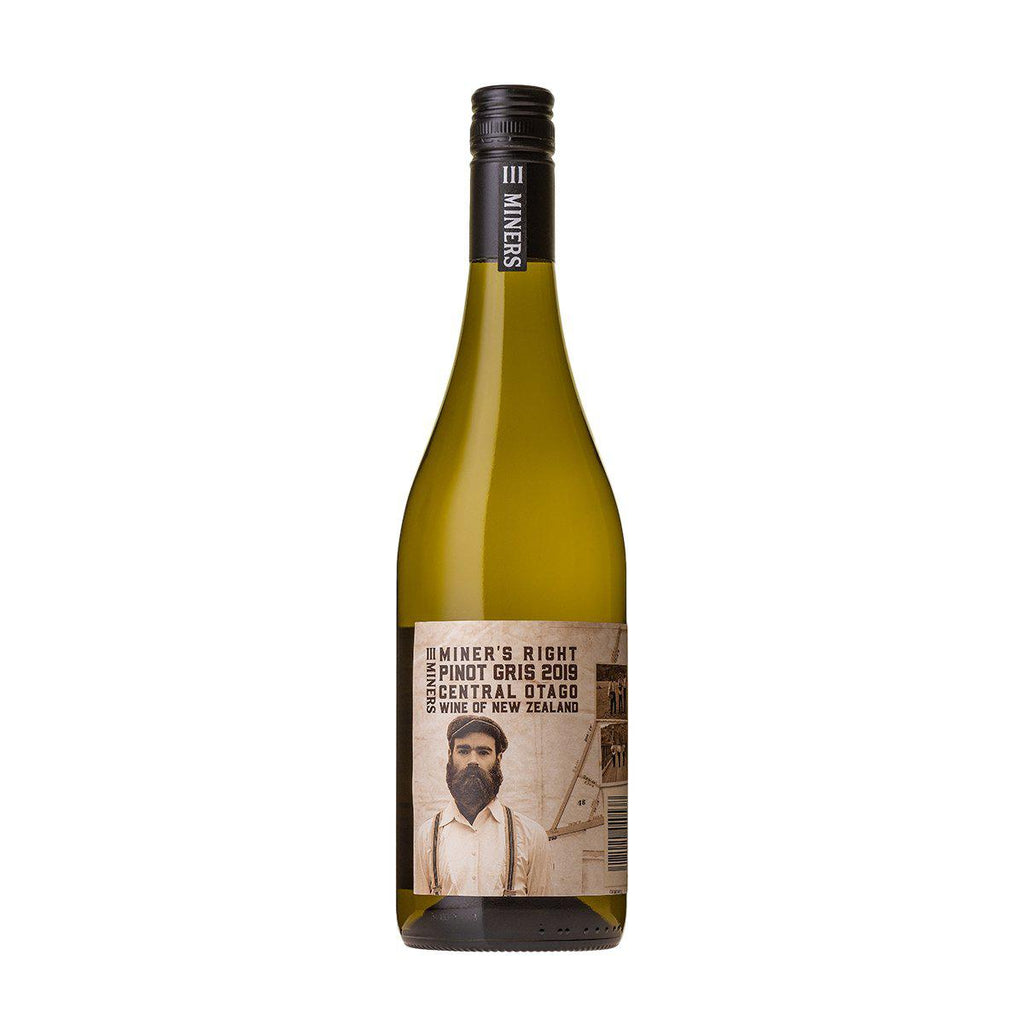 Three Miners - Miner's Right Pinot Gris 2019 - Premium Liquor New Zealand