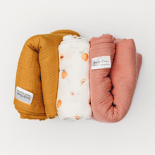 Load image into Gallery viewer, Peach Blossom Swaddle Set