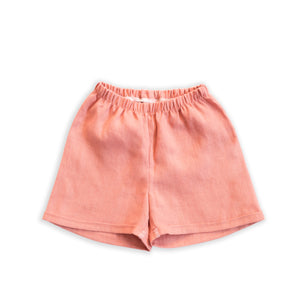 Linen Chino Shorties in Clay